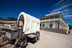 Covered wagon in front of the Cosmopolitan Hotel, Old Town San Diego, California, United States of America