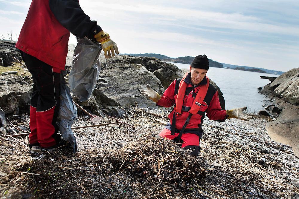 HOVEDØYA/OSLO 2015-04-10: Reportasje på mannskapet som vedlikeholder øyene i Oslo-fjorden. FOTO:WERNERJUVIK