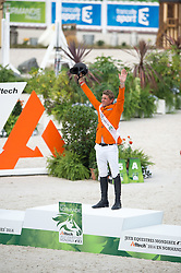 Medal Ceremony - Show Jumping Final Four - Alltech FEI World Equestrian Games™ 2014 - Normandy, France.<br /> © Hippo Foto Team - Jon Stroud<br /> 07/09/2014