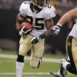 2008 August 16: New Orleans Saints running back Reggie Bush runs during a preseason match up against the Houston Texans at the Louisiana Superdome in New Orleans, LA. .
