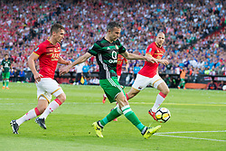 Stijn Wuytens of AZ, Robin van Persie of Feyenoord, Ron Vlaar of AZ during the Dutch Toto KNVB Cup Final match between AZ Alkmaar and Feyenoord on April 22, 2018 at the Kuip stadium in Rotterdam, The Netherlands.