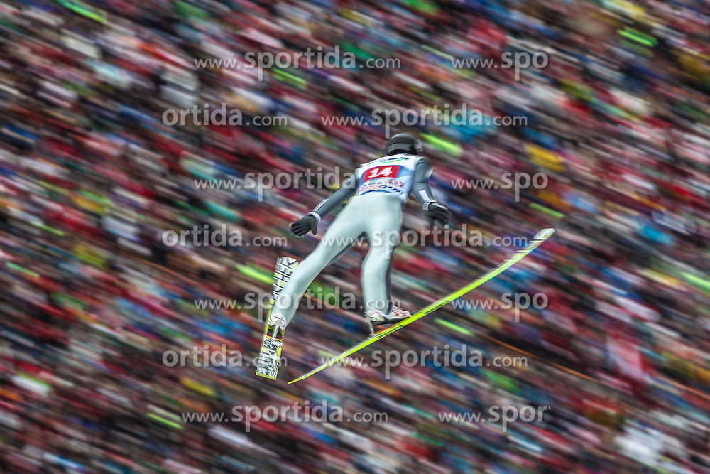 04.01.2014, Bergisel Schanze, Innsbruck, AUT, FIS Ski Sprung Weltcup, 62. Vierschanzentournee, Innsbruck, Bewerb, im Bild Gregor Deschwanden (SUI) // Gregor Deschwanden (SUI) during Competition of 62nd Four Hills Tournament of FIS Ski Jumping World Cup at the Bergisel Schanze in Innsbruck, Austria on 2014/01/04. EXPA Pictures © 2014, PhotoCredit: EXPA/ JFK