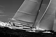 Saudade racing in the St. Barth's Bucket Regatta.