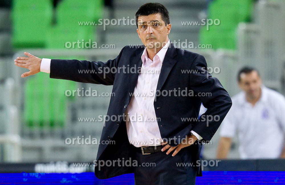 Head coach  of Igokea Slobodan Klipa during basketball match between KK Union Olimpija and Igokea in First round of NLB league in Arena Stozice on October 9, 2010 in SRC Stozice, Ljubljana, Slovenia. Union Olimpija defeated Igokea 61-54. (Photo by Vid Ponikvar / Sportida)