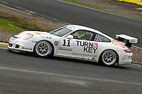 2009 Porsche Carrera Cup Great Britain.  Knockhill, Scotland, United Kingdom.  15th-16th August 2009.  (11) - Lewis Hopkins - Red Line Racing.  World Copyright: Peter Taylor/PSP. Copy of publication required for printed pictures. Every used picture is fee-liable.