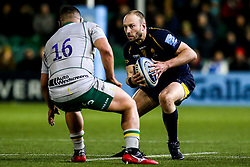 Chris Pennell of Worcester Warriors takes on Sam Matavesi of Northampton Saints - Mandatory by-line: Robbie Stephenson/JMP - 06/03/2020 - RUGBY - Sixways Stadium - Worcester, England - Worcester Warriors v Northampton Saints - Gallagher Premiership Rugby