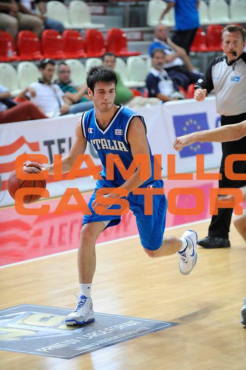 DESCRIZIONE : Teramo Giochi del Mediterraneo 2009 Mediterranean Games Italia Turchia Italy Turkey Preliminary Men<br /> GIOCATORE : Lorenzo D'Ercole<br /> SQUADRA : Nazionale Italiana Maschile<br /> EVENTO : Teramo Giochi del Mediterraneo 2009<br /> GARA : Italia Turchia Italy Turkey<br /> DATA : 30/06/2009<br /> CATEGORIA : palleggio<br /> SPORT : Pallacanestro<br /> AUTORE : Agenzia Ciamillo-Castoria/G.Ciamillo
