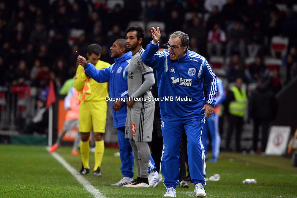Marcelo BIELSA   - 23.01.2015 - Nice / Marseille - 22eme journee de Ligue 1<br />Photo : Gaston Petrelli / Icon Sport