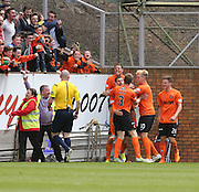 Dundee United's Nadir &Ccedil;ift&ccedil;i is congratulated after opening the scoring  - Dundee United v Dundee at Tannadice Park in the SPFL Premiership<br /> <br />  - &copy; David Young - www.davidyoungphoto.co.uk - email: davidyoungphoto@gmail.com
