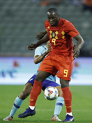 (L-R) Nathan Ake of Holland, Romelu Lukaku of Belgium during the International friendly match between Belgium and The Netherlands at the King Baudouin Stadium on October 16, 2018  in Brussels, Belgium