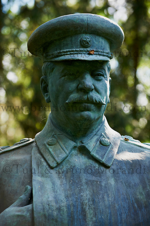 Lituanie (pays baltes), comté de Alytus, Druskininkai, le parc Gruto Parkas ou Parc Grutas surnommé le monde de Stalin, Joseph Stalin né le 21 decembre 1879 mort le 5 mars 1953 // Lithuania (Baltic Countries), Alytus region, city of Druskininkai, Gruto Park, the Stalin world.
