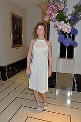 CAMILLA RUTHERFORD at an English Garden party to celebrate the re-launch of the Grosvenor House Hotel, Park Lane, London on 21st June 2016.