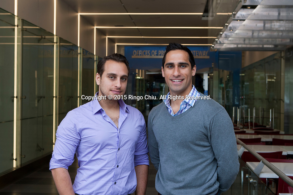 Ron Ghaneeian, left, and his brother Ramin of Lot Plans in Santa Monica. (Photo by Ringo Chiu/PHOTOFORMULA.com)