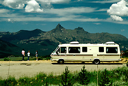 RV Travel Through Montana..Photo copyright Lee Foster, 510/549-2202, lee@fostertravel.com, www.fostertravel.com.Photo #: rvstyl102