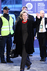 U.S. Secretary of State Hillary Clinton arrives at the morning session of United Nations Climate Change Conference at Bella Center in Copenhagen, Denmark, on December 18, 2009. World leaders will try to reach agreement on targets for reducing the earth's carbon emissions on this last day of the summit. Photo by Ludovic/Pool/ABACAPRESS.COM