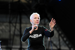 Dec. 11, 2013 - Cape Town, Western Cape, South Africa - ANNIE LENNOX during the City of Cape Town hosted concert at the 45000 seater Cape Town Stadium called ''Nelson Mandela - A life Celebrated''. Nelson Mandela was the first democratically elected president of South Africa, Wednesday, 11th December 2013. Picture by Roger Sedres / i-Images (Credit Image: © Roger Sedres/i-Images/ZUMAPRESS.com)