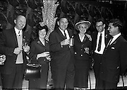 3/07/1963<br /> 07/03/1963<br /> 03 July 1963<br /> American executives of N.C.R. visit Dublin. Two top executives of the Dayton, Ohio, headquarters of the National Cash Register Company, one of the world's foremost manufacturers of cash registers, accounting machines and electronic computers, visiting Dublin. Picture shows  the lunch at the Gresham Hotel, Dublin. Centre is Mr George Haynes, Vice President International Operations N.C.R., Dayton Ohio.