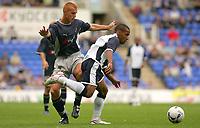 Fotball<br /> England 2005/2006<br /> Foto: SBI/Digitalsport<br /> NORWAY ONLY<br /> <br /> Reading Football Club v Tottenham Hotspurs<br /> Friendly. <br /> Madejski Stadium.<br /> 30/07/2005<br /> <br /> Spurs Wayne Routledge runs past Reading's Steve Sidwell