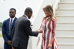October 2, 2018 - Accra, Ghana, West Africa - First Lady Melania Trump at Kotoka International Airport in Accra, Ghana. (Credit Image: ? Andrea Hanks/White House via ZUMA Wire/ZUMAPRESS.com)
