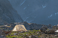 Backcountry camp in Indian Basin, Bridger Wilderness,  Wind River Range Wyoming