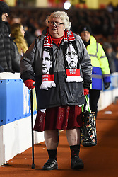 January 19, 2019 - Nottingham, England, United Kingdom - Nottingham Forest supporter with Martin O'Niell scarf during the Sky Bet Championship match between Nottingham Forest and Bristol City at the City Ground, Nottingham on Saturday 19th January 2019. (Credit Image: © Mark Fletcher/NurPhoto via ZUMA Press)