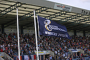 The SPFL Championship flag flies over Dens Park - Dundee v Kilmarnock - SPFL Premiership at Dens Park<br /> <br />  - &copy; David Young - www.davidyoungphoto.co.uk - email: davidyoungphoto@gmail.com