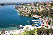 Lake Mission Viejo Master Planned Community Aerial Stock Photo