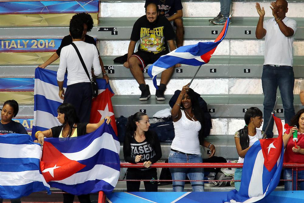 Cuba fans wave Cuba flags