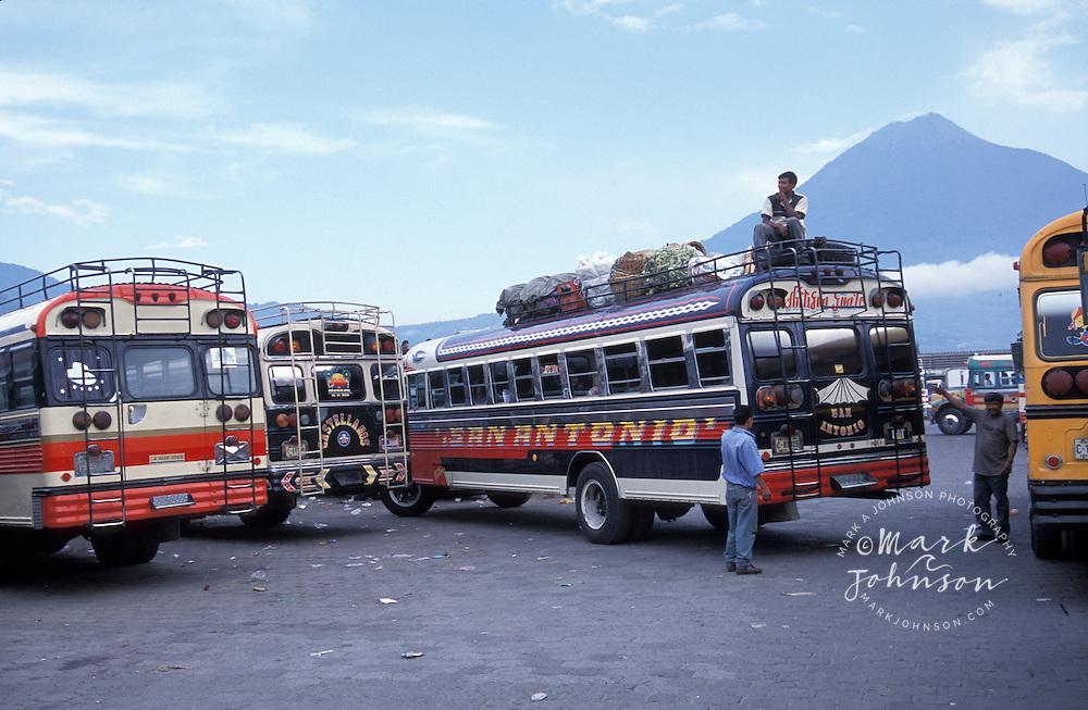 Bluebird buses, Antigua, Guatemala