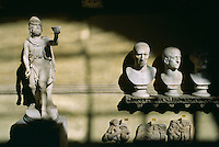 Marble statues carvings and busts Vatican Museum Rome Italy