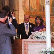 ITA/Parma/20120929- Doop prinses Luisa Irene, prins Carlos de Bourbon de Parme, partner, Annemarie Gualtherie van Weezel