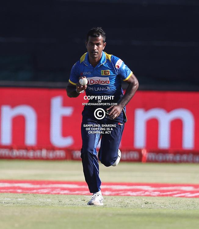 Nuwan Kulasekara of Sri Lanka during the 2nd ODI Momentum One-Day International (ODI) series South African and Sri Lanka at Kingsmead, Durban, South Africa.1st February 2017 - (Photo by Steve Haag)