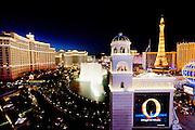 The Strip, Bellagio at night Las Vegas, Nevada, USA