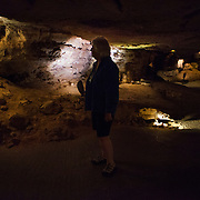 Wind Cave National Park, near Hot Springs in western South Dakota, was established in 1903 by President Theodore Roosevelt.  The cave is currently the sixth-longest in the world and notable for its displays of boxwork, a rare cave formation composed of thin calcite fins resembling honeycombs. MR Model Release<br /> Photography by Jose More