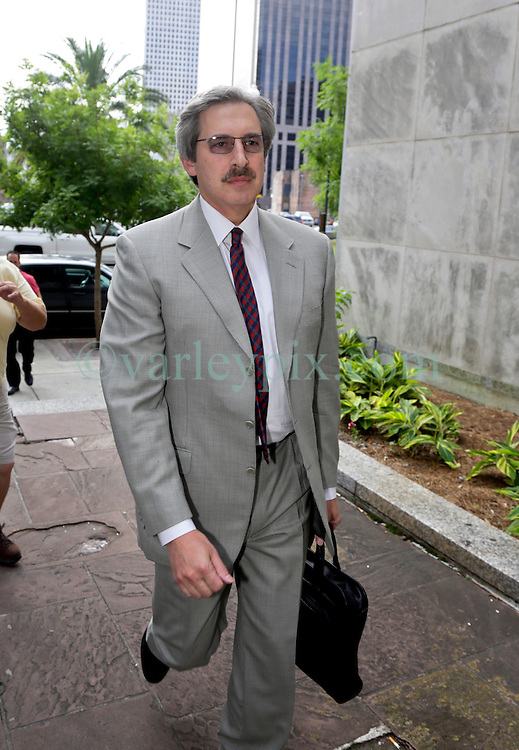 10 June  2015. New Orleans, Louisiana. <br /> Psychiatrist Dr Ted Bloch III arrives incourt to attend week 2 of the hearing to determine the competency of Tom Benson. Bloch assessed Tom Benson for dementia on behalf of the LeBlanc family. Benson is the billionaire owner of the NFL New Orleans Saints, the NBA New Orleans Pelicans, various auto dealerships, banks, property assets and a slew of business interests. Rita, her brother and mother demanded a competency hearing after Benson changed his succession plans and decided to leave the bulk of his estate to third wife Gayle, sparking a controversial fight over control of the Benson business empire.<br /> Photo&copy;; Charlie Varley/varleypix.com