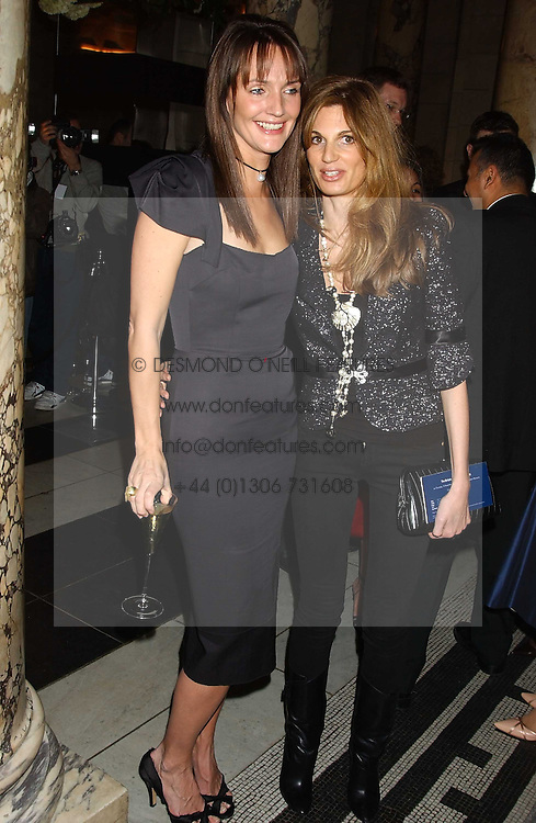 Left to right, SAFFRON ALDRIDGE and JEMIMA KHAN at the 2005 British Fashion Awards held at The V&amp;A museum, London on 10th November 2005.<br /><br />NON EXCLUSIVE - WORLD RIGHTS