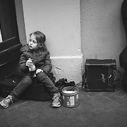 She waited for over 8 hours on that suitcase while her daddy performed on the street.  French Quarter, New Orleans, LA