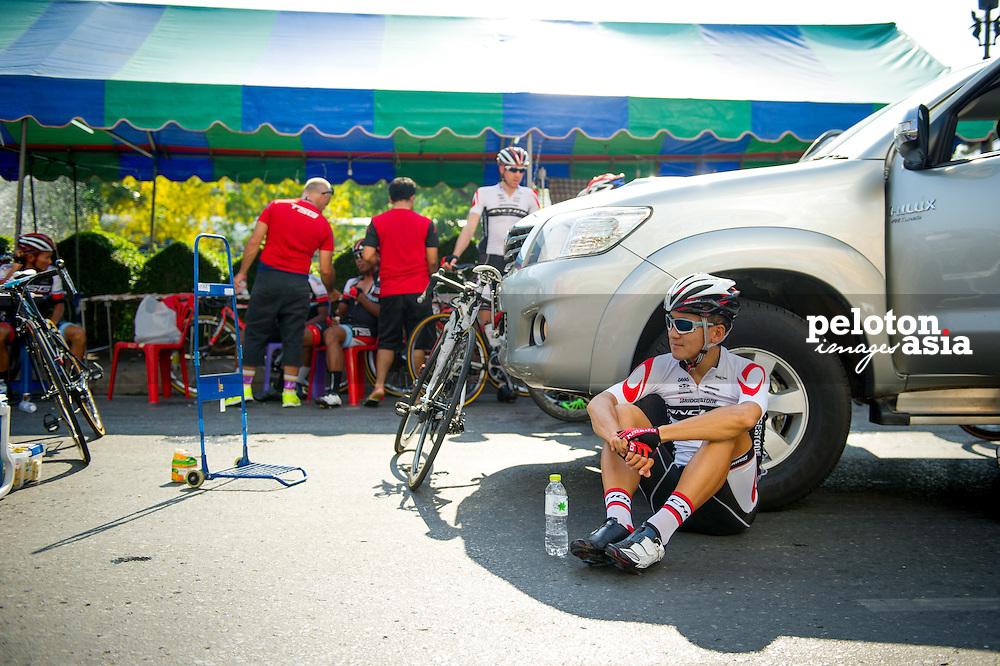 Tour of Thailand 2015/ Stage1/ Nakhon Ratchasima - Buri Ram/Bridgestone Anchor/ Uchima Kohei
