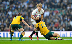 Billy Twelvetrees of England in possession - Photo mandatory by-line: Patrick Khachfe/JMP - Mobile: 07966 386802 29/11/2014 - SPORT - RUGBY UNION - London - Twickenham Stadium - England v Australia - QBE Internationals