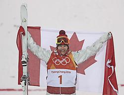 PYEONGCHANG, Feb. 12, 2018  Mikael Kingsbury from Canada celebrates after finishing men's moguls event of freestyle skiing at 2018 PyeongChang Winter Olympic Games at phoenix snow park, PyeongChang, South Korea, Feb. 12, 2018. (Credit Image: © Fei Maohua/Xinhua via ZUMA Wire)