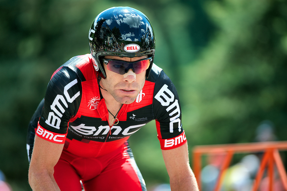 Cadel Evans riding in the Vail Time Trial 2011 Tour of Colorado.