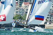 Gazprom Team Russia, day four of the Land Rover Extreme Sailing Series regatta in Qingdao, China. 4/5/2014