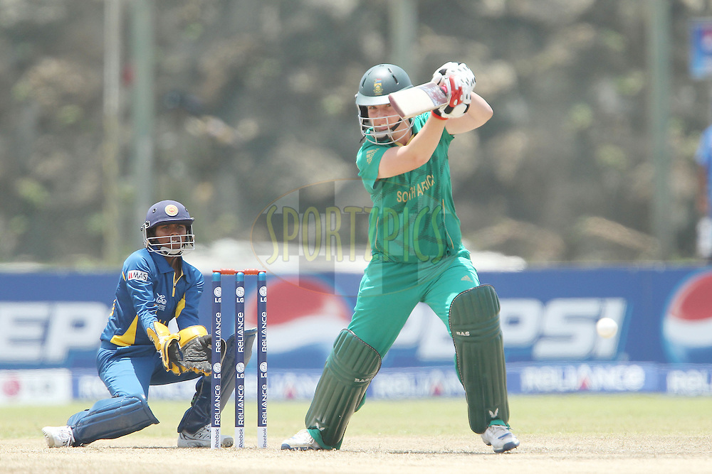 Susan Benade during the ICC Women's World Twenty20 - 1st Match, Group B, between South Africa and Sri Lanka held at the Galle International Stadium in Galle, Sri Lanka on the 26th September 2012..Photo by Ron Gaunt/SPORTZPICS
