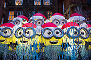 A Christmas Display of minions raising money for the Great Ormond Street hospital outside a west London church in London, United Kingdom.  (photo by Andrew Aitchison / In pictures via Getty Images)