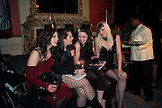 SATANIC SLUTS;  GEORGINA BAILEY; KELLY LYNEE; KATE LOMOX; HAYLEY THOMPSON;The Literary Review Bad sex in Fiction award 2008. The In and Out Club. 4 St. James Square. London SW1. 25 November 2008. *** Local Caption *** -DO NOT ARCHIVE -Copyright Photograph by Dafydd Jones. 248 Clapham Rd. London SW9 0PZ. Tel 0207 820 0771. www.dafjones.com