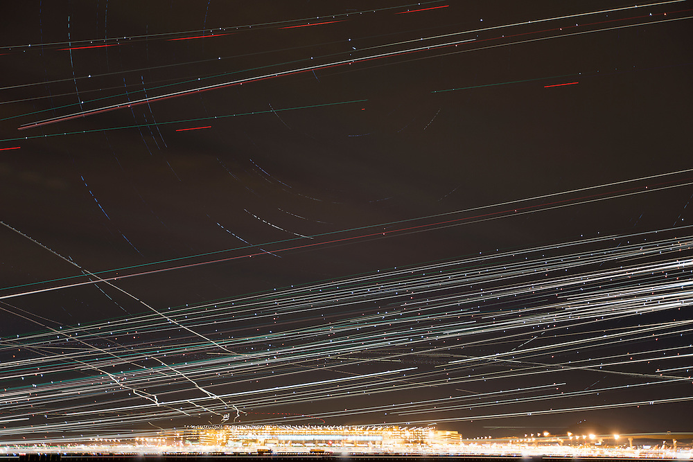 Phoenix Airplane Trails on December 29, 2012. © Tom Turner Photography 2013