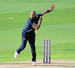 Jeetan Patel of Warwickshire bowls.  - Mandatory by-line: Alex Davidson/JMP - 29/08/2016 - CRICKET - Edgbaston - Birmingham, United Kingdom - Warwickshire v Somerset - Royal London One Day Cup semi final