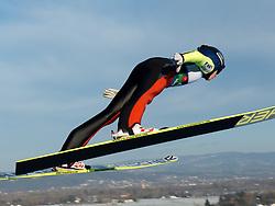 01.02.2014, Energie AG Skisprung Arena, Hinzenbach, AUT, FIS Ski Sprung, FIS Ski Jumping World Cup Ladies, Hinzenbach, Wettkampf im Bild #45 Daniela Iraschko-Stolz (AUT) // during FIS Ski Jumping World Cup Ladies at the Energie AG Skisprung Arena, Hinzenbach, Austria on 2014/02/01. EXPA Pictures © 2014, PhotoCredit: EXPA/ Reinhard Eisenbauer