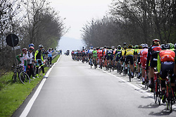 March 18, 2017 - San Remo, Italie - SANREMO, ITALY - MARCH 18 : Illustration picture of the peloton during the UCI WorldTour 108th Milan - Sanremo cycling race with start in Milan and finish at the Via Roma in Sanremo on March 18, 2017 in Sanremo, Italy, 18/03/2017  (Credit Image: © Panoramic via ZUMA Press)