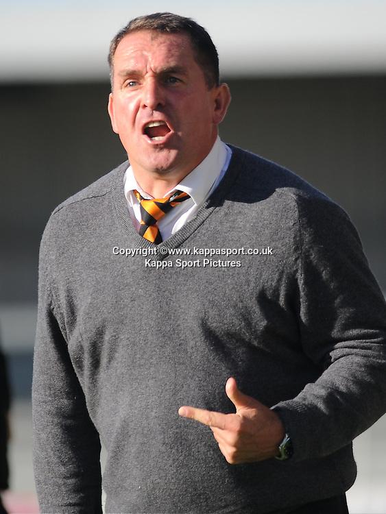Martin Allen Manager Barnet FC, Barnet v Eastleigh, Vanarama Conference, Saturday 4th October 2014